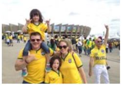 Family picture before heading into the stadium!